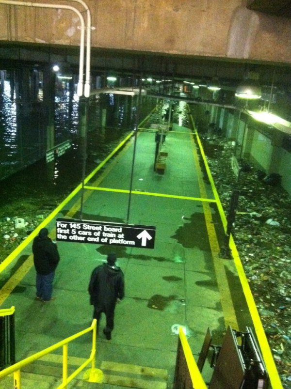 New York Subway Flooded During Hurricane