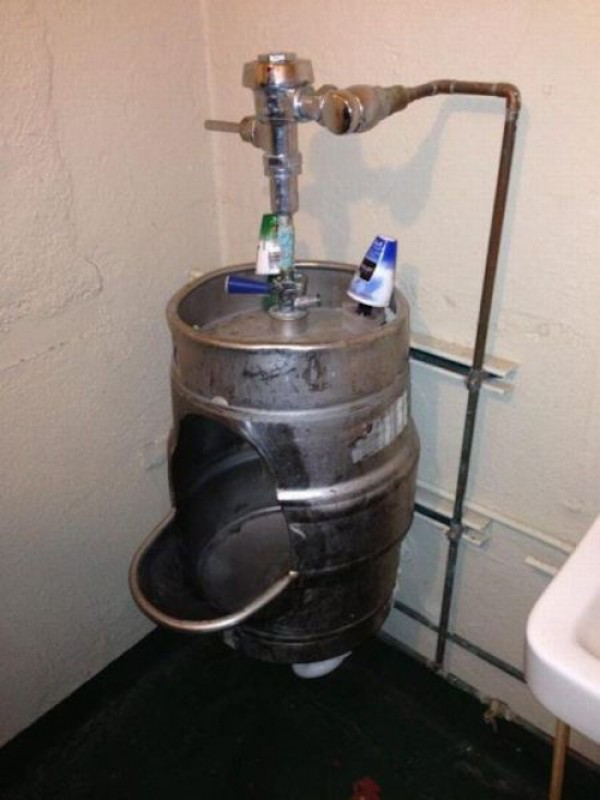 man takes giant piss