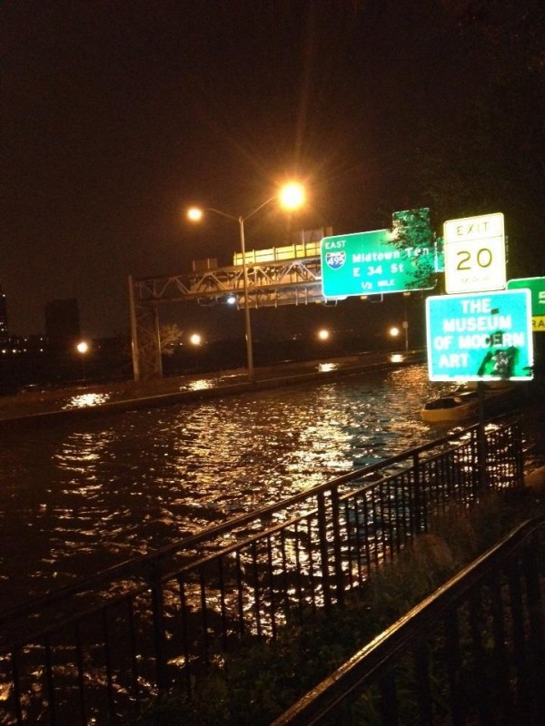 New York Highway Flooded During Hurricane