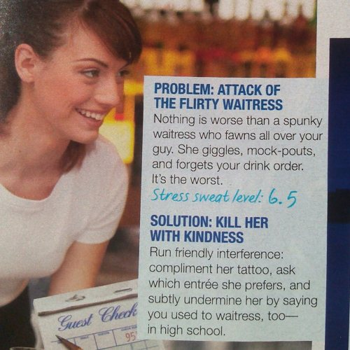 Cosmo article insults waitress