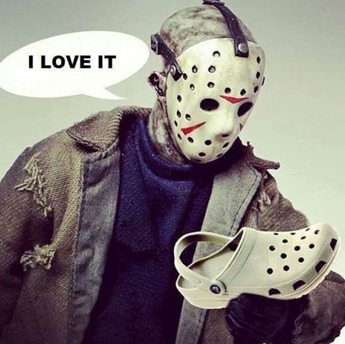 jason with crocks